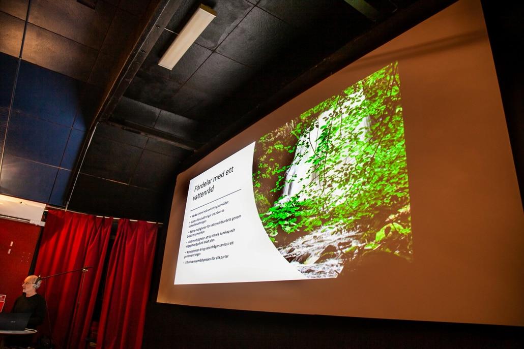 Hans-Olof Höglund , ordförande i Österlens vattenråd berättade om vad vattenråd gör
