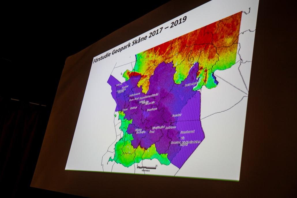 Ola Göransson från GeoForum Skåne berättar om arbetet att få Skåne till en GeoPark under UNESCO
