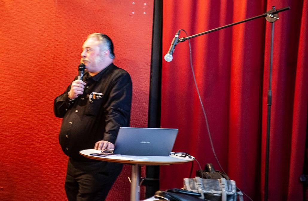 Dafvid Hermansson, projektledare, berättade vad som hänt och vad som kommer att hända framöver
