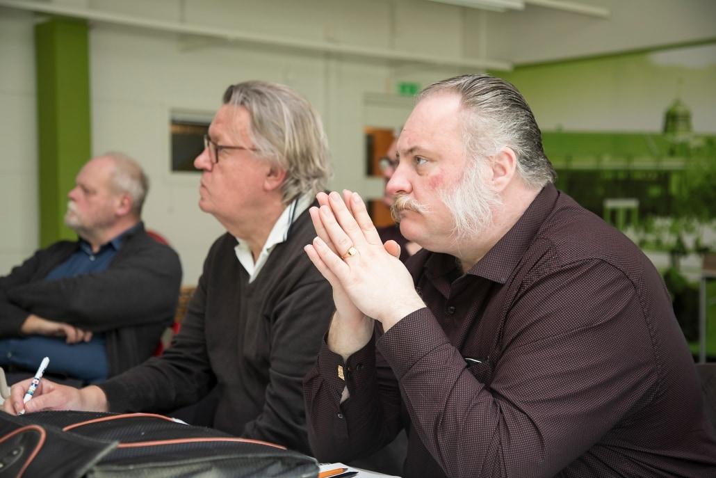 Fr.v: Agne Andersson kommunekolog Osby,Helge Å Model Forest, Claes Bergkvist, Ålakademien,Dafvid Hermansson, SfH