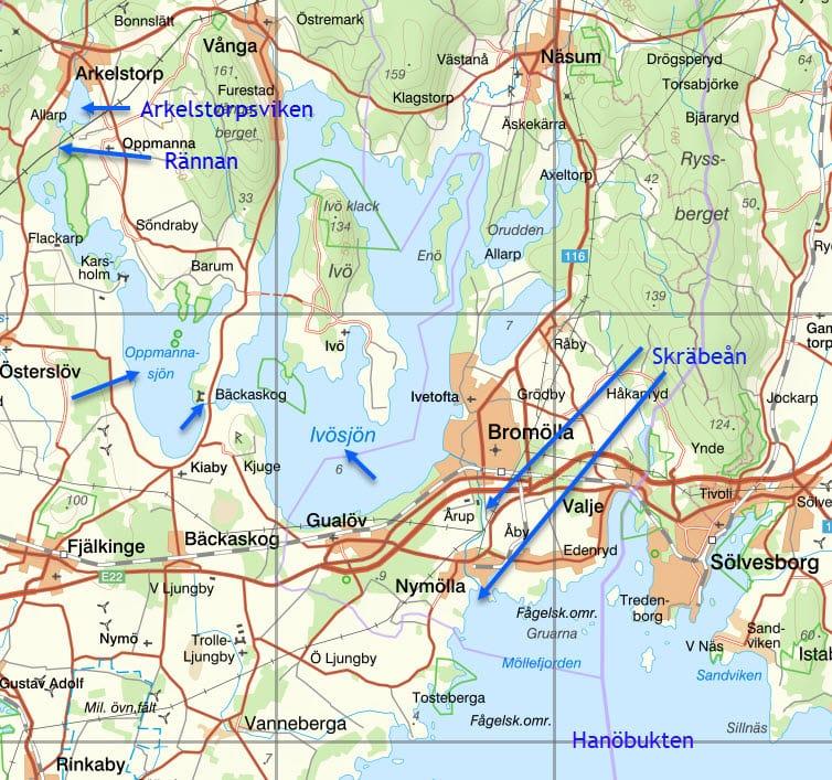 Karta Arkelstorpsviken
